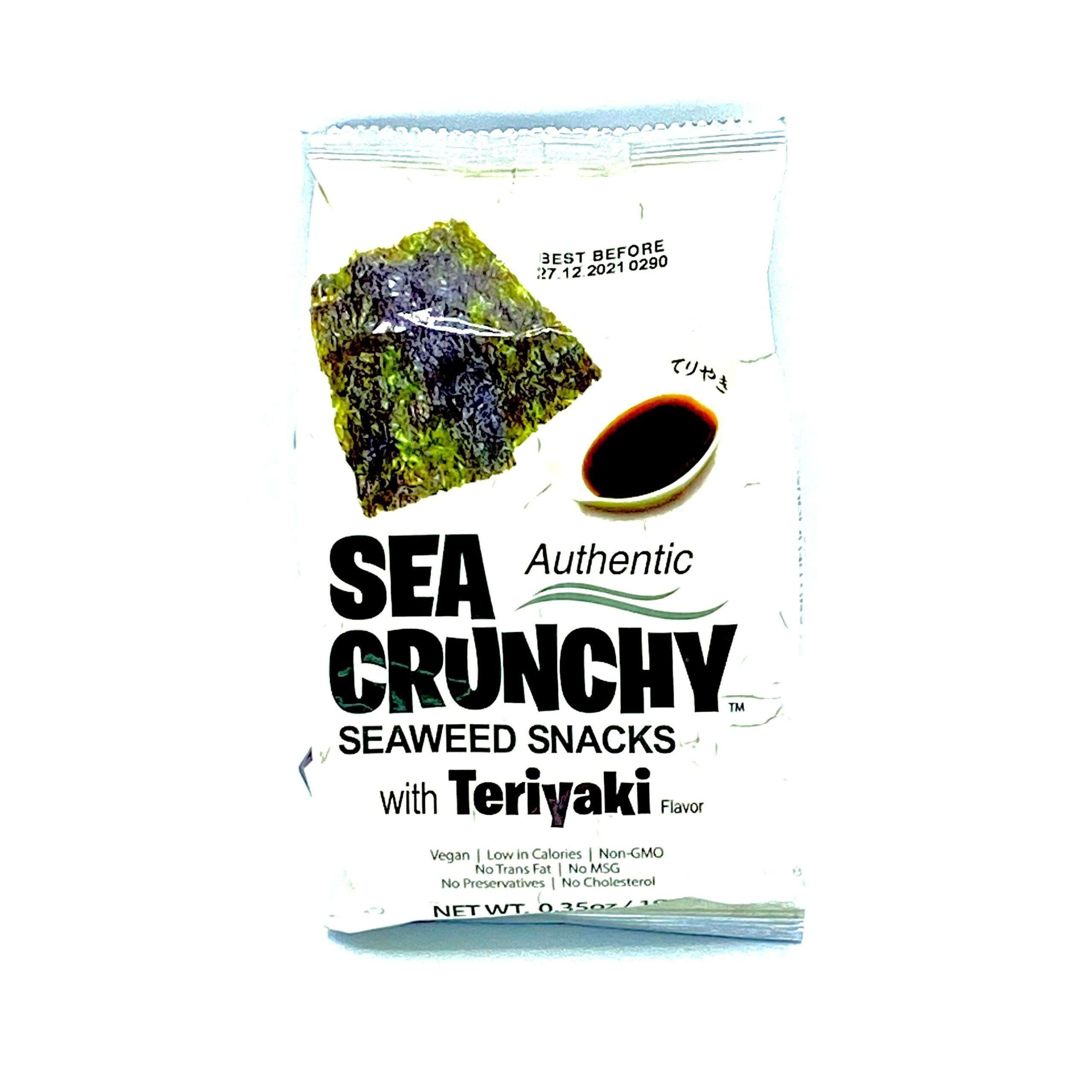 Zak zeewier snacks met teriyaki smaak