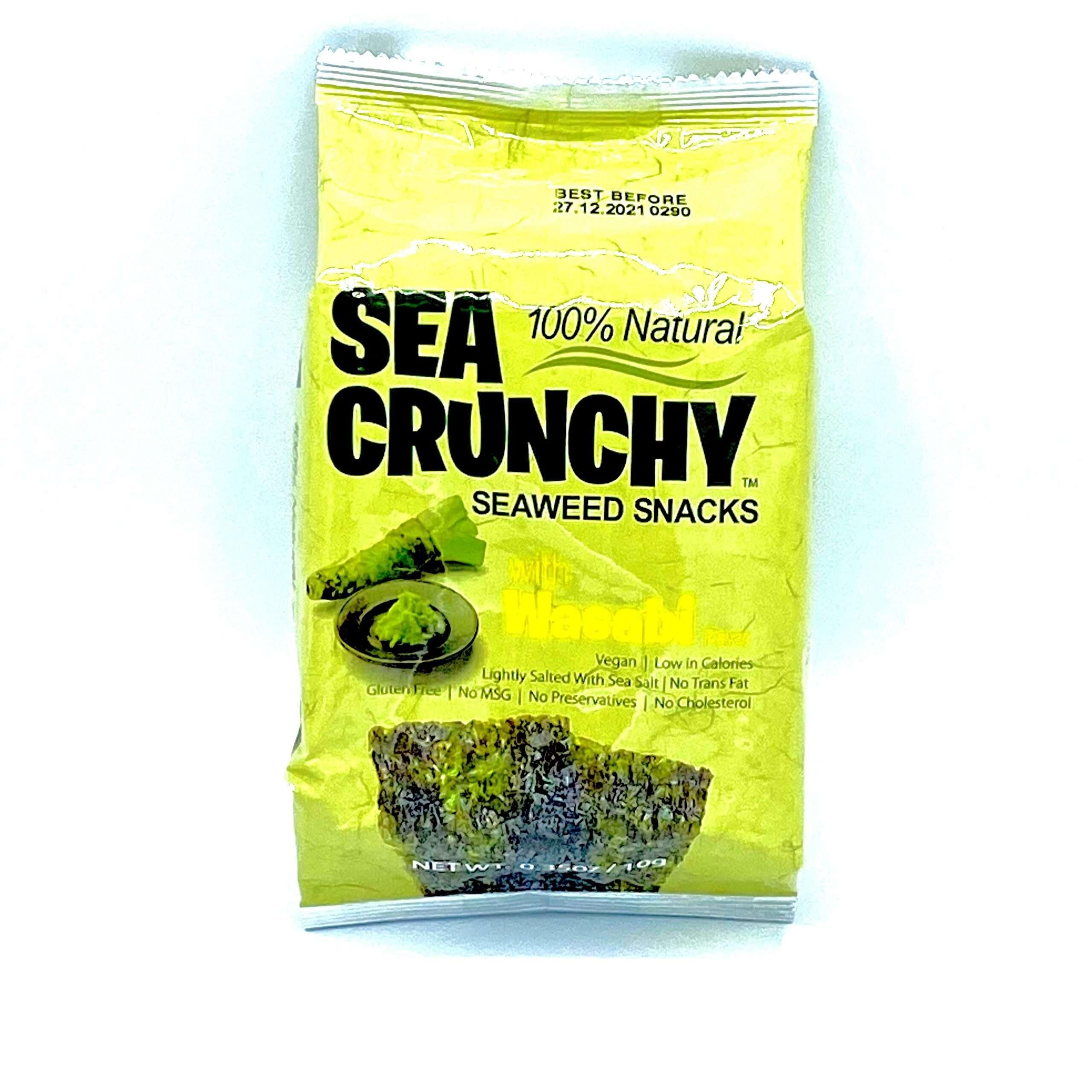 Zak met zeewier snacks