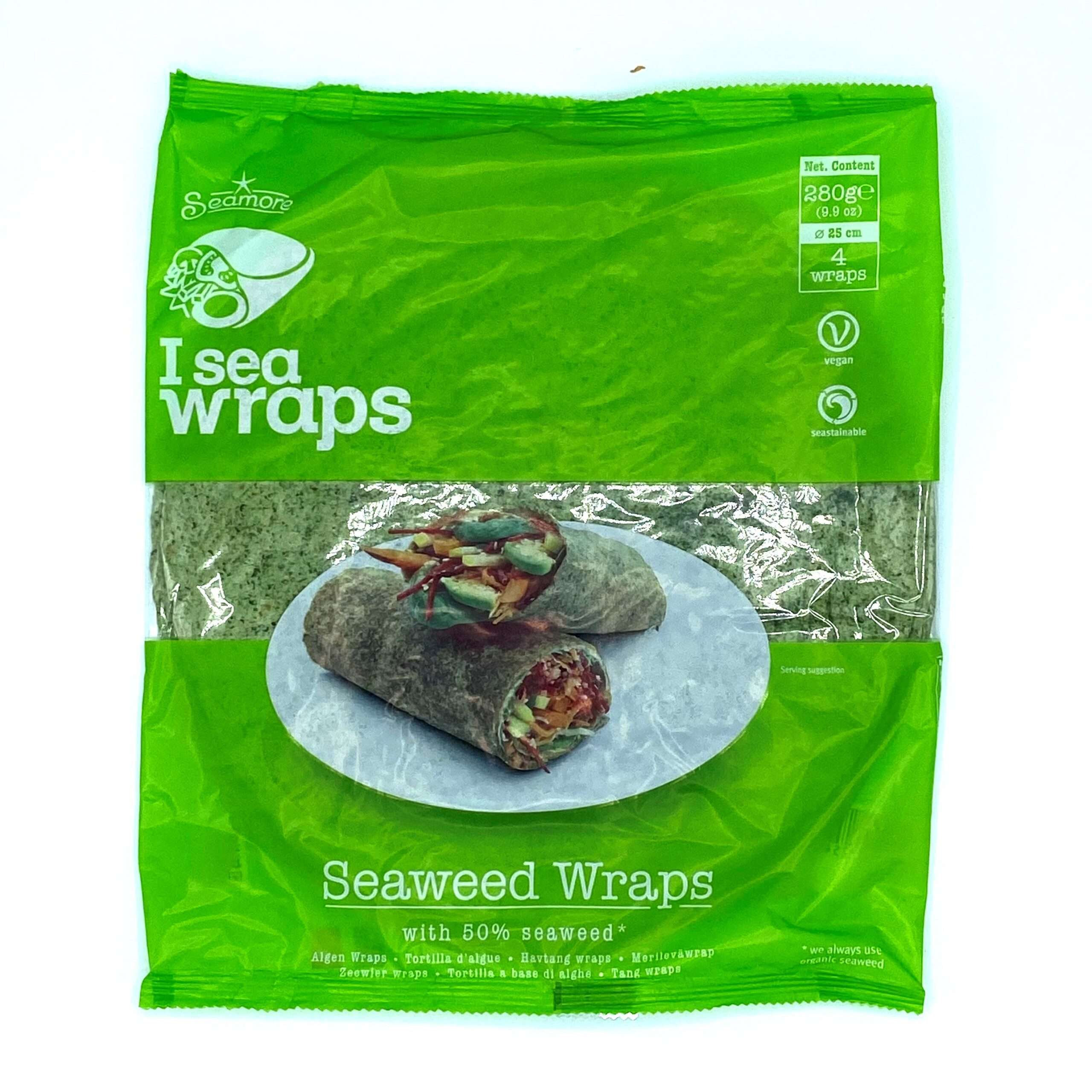 Zak met zeewier wraps